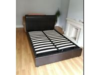 gas lift double storage bed