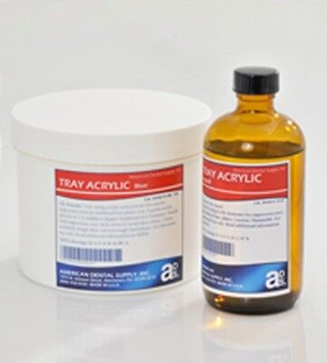 Acrylic Tray Material Kit 1 For Impression Trays Base Plates Dental Lab Blue