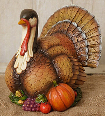 New Country Primitive HARVEST TURKEY Thanksgiving Statue Figurine
