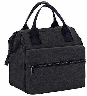 Insulated Lunch Bag Box Cooler for Men & Women Heavy Duty Oxford Nylon-Black