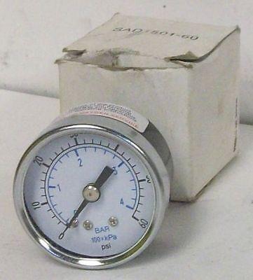 General Purpose 1.5 Pneumatic Pressure Gauge 0-60 Psi 18 Connection Nib
