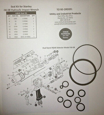 Seal Kit - Stanley Iw-08 Hydraulic Impact Wrench Seal Kit No.10829 Pack Of 10