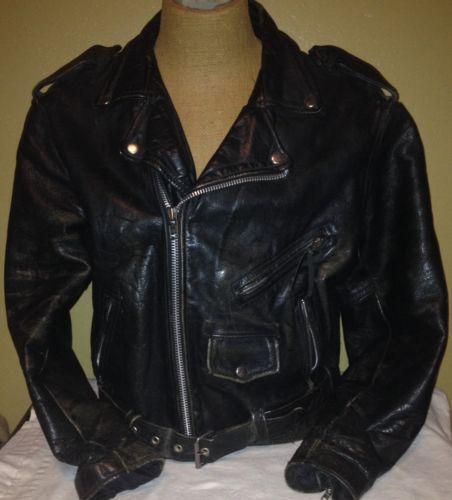 vintage leather jacket xl ebay