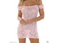 LADIEs WOMENs SEXY PINK LACE LINGERIE NIGHTWEAR BODY & G-STRING BABYDOLL