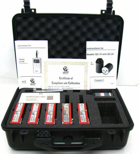 5 Tested Working Quest Q-200 Noise Dosimeter With QC-10 Calibrator/Manual/Case K