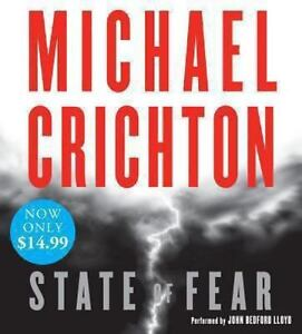 State Of Fear By Michael Crichton 2008, CD, Abridged Audiobook 2C - $9.19