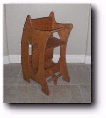 Amish 3 in 1 High Chair - Baby Sitter Woodworking Plans & FREE Transfer Paper