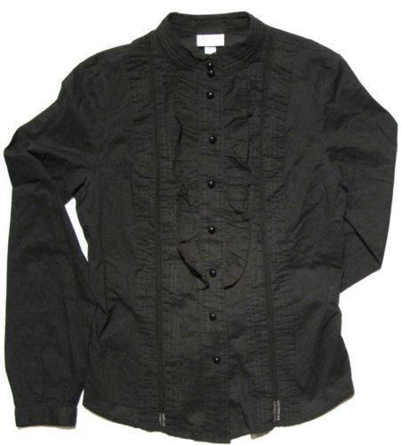 Womens tuxedo shirt ebay for Tuxedo shirt without studs