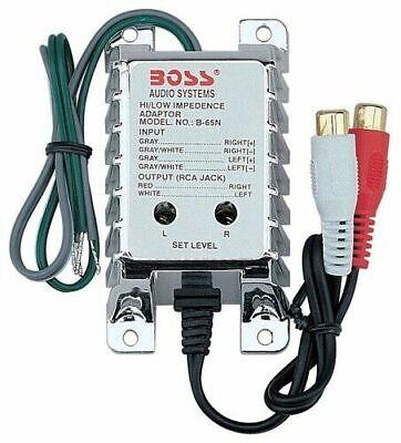 BOSS B65N High Level to Low Level Converter + RCA Input Sensitivity Control NEW!