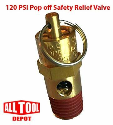 New 14 Npt 120 Psi Air Compressor Relief Pressure Safety Valve Tank Pop Off