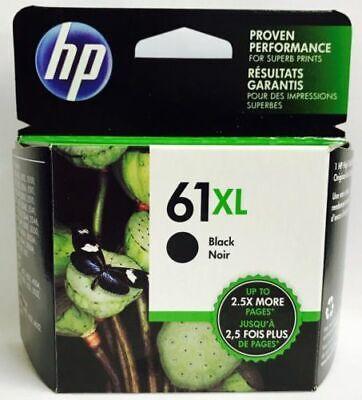 GENUINE HP 61XL Black High Capacity Ink Cartridge 01/2023 - BRAND NEW FREE SHIP