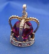 Vintage Sterling Silver Crown Charm