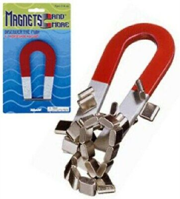 Magnetic Horseshoe Red Magnet 4 Inch Metal Science Toys Toy Smith 7365
