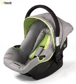 NEW Hauck Capri car seat group 0 - 0+ grey/lime