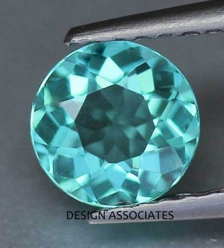 APATITE NATURAL 6 MM ROUND CUT  BLUE NICE COLOR