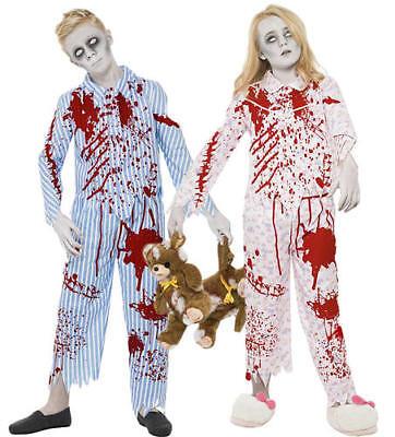 Zombie Pyjama Kids Halloween Fancy Dress Horror Childrens Boys Girls Costume New