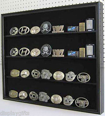 (Multi-Use Display Shadow Box for Belt Buckles, Sports Cards, Poker Decks: BC02)
