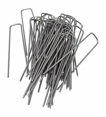 6 Inch 11 Gauge Heavy Duty U Shaped Garden Securing Pegs - 50 Pieces (6 Piece Heavy Gauge)