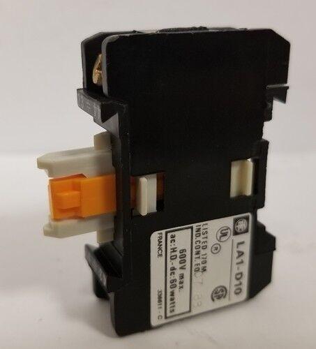 Telemecanique Auxiliary Contact Block La1-d10 Lot Of 4 Each