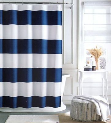 Shower Cabana - Tommy Hilfiger Cabana Stripe Fabric Shower Curtain -Blue and White -72 X 72 NEW