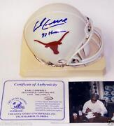 Earl Campbell Signed Mini Helmet