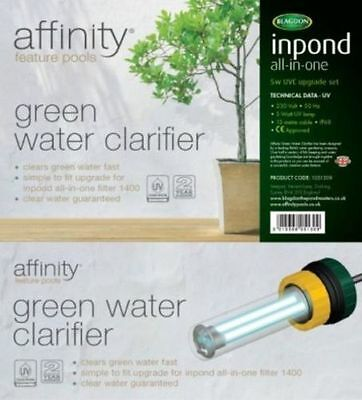 BLAGDON AFFINITY 5W UVC UPGRADE SET GREEN WATER UV (Textaline Affinity Pools)