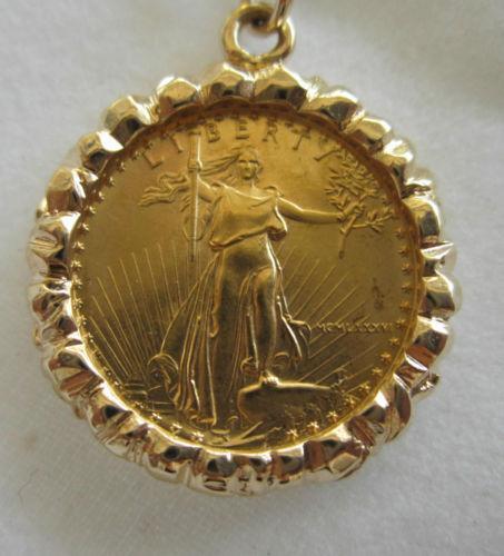 14k Gold Coin Bezel Ebay