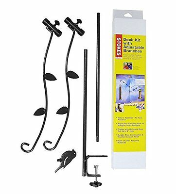 Stokes Select Bird Feeder Metal Deck Pole Kit with Two Adjustable Branches