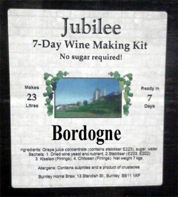Jubilee Wine Kits  7  Day Wine Making Kits Red and White Home Brew Making
