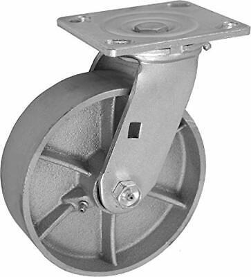 Casterhq 8 X 2 Inch Swivel Caster - Semi-steel Cast Iron Wheel - 1250 Lbs Capa
