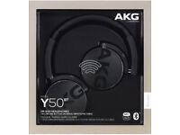 AKG Y50BT Foldable Bluetooth Headphones [BOXED]