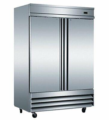 Eq Kitchen Line Cfd-2ff- Stainless Steel 2-door Commercial Reach In Freezer