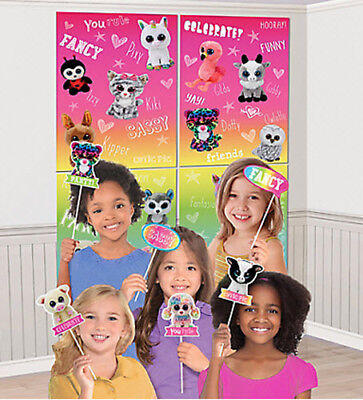 TY BEANIE BOO'S birthday party Scene Setter & 12 photo booth props BACKDROP - Party Ty
