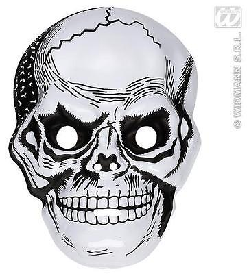 White Plastic Skull Mask Skeleton Skeletor Halloween Fancy Dress