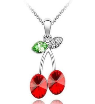 crystal red cherry sterling SILVER 18