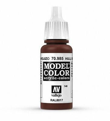 Vallejo Hull Red Model Color Paint, 17ml VAL (Red Model)