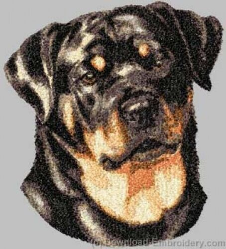Large Embroidered Zippered Tote - Rottweiler DLE3847