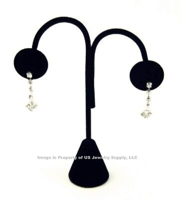 "1 Black Velvet Arched Earring Tree Display Stand 4 3/4""High"