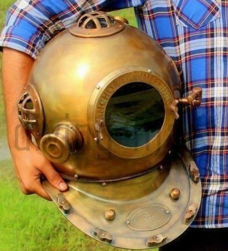 "Diving Divers Helmet Antique Deep Sea Vintage Mark V 18"" Anchor Engineering 1921"