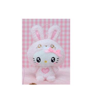 NEW Sega Sanrio Hello Kitty Pink Bunny Costume Plush 9cm SEGA1021946 US Seller - Sanrio Costumes