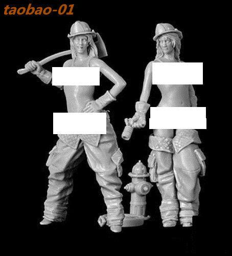 1//20 2pcs Figure Model Unpainted Garage Kits 2Sexy Girls Unassembled Resin Kit