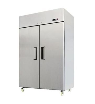 Atosa Mbf8002 Upright Stainless Two 2-door Freezer - Top Mount - Warranty -
