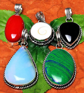 REAL STONE NECKLACES, PENDANTS & RINGS - GREAT GIFTS