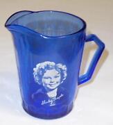 Blue Milk Glass Pitcher