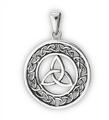 Triquetra celtic knotsebay triquetra necklace celtic trinity knot pendant knot work sterling silver 925 mozeypictures Image collections