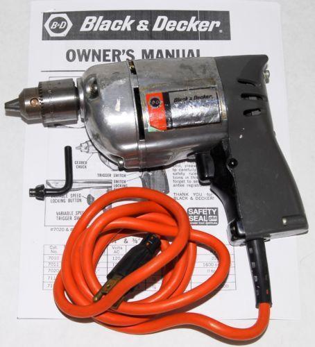 black and decker drill vintage ebay. Black Bedroom Furniture Sets. Home Design Ideas
