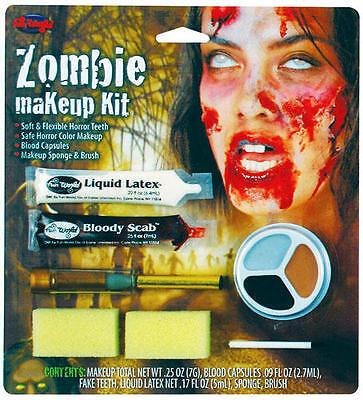 Zombie Make Up Kit Horror Bloody Monster Halloween Fancy Dress Face Paint Set