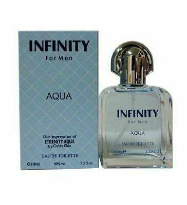 INFINITY  Aqua Perfume EDT SPRAY  Cologne Fragrance For Men 3.2oz ~ SEALED BOX Eternity Mens Edt Perfume