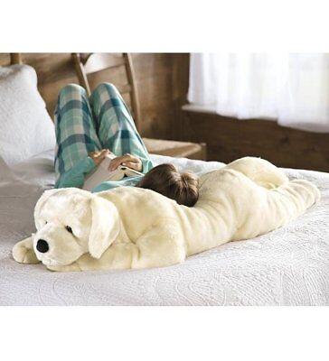 Giant Labrador Dog Body Pillow Soft Toy Animal Yellow Lab Realistic Plush Jumbo (Giant Plush Dog)