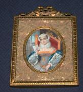 Antique Miniature Portrait